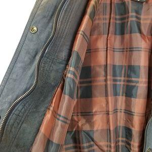 28e875c09 IZZI Mens Dark Gray Suede Leather Bomber Jacket